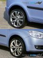 Lemy blatníků - desén Roomster facelift, Škoda Roomster