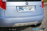 Zadní difusor lyžina - stříbrná lyžina,Škoda Fabia II facelift