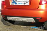 Zadní difuzor lyžina All-road - černý desén+stříbrná lyžina, Škoda Fabia II facelift