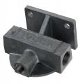 """Externí relokační držák olejového filtru Mocal - 1x vývod 1/2""""-BSP na každé straně + M14 čidlo - levý"""