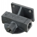 """Externí relokační držák olejového filtru Mocal - 1x vývod 1/2""""-BSP na každé straně + M14 čidlo - pravý"""