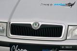 Lišta masky - černý desén, Škoda Octavia 2001