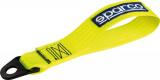 Přední odtahové oko textilní Sparco - žlutá neon