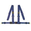 Bezpečnostní pás OMP Racing 4M 4-bodový modrý - karabina (E homologace)