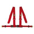 Bezpečnostní pás OMP Racing 4M4-bodový červený - karabina (E homologace)