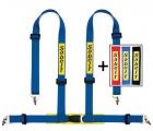 Bezpečnostní pás Sabelt Clubman 4-bodový modrý - karabina (E homologace)