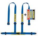 Bezpečnostní pás Sabelt Clubman 4-bodový modrý - očko (E homologace)