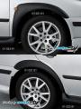 Nástavky blatníků široké - černý desén*,(Škoda Octavia)