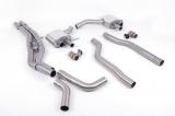 Particulate filter back výfuk Milltek Audi RS6 C8 4.0 V8 Bi-Turbo (19-) - hlasitější verze - koncovky černé