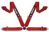 Bezpečnostní pás Sandtler Sponsor 4-bodový červený - karabina (FIA homologace)