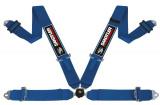 Bezpečnostní pás Sandtler Sponsor 4-bodový modrý - karabina (FIA homologace)