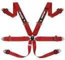 Bezpečnostní pás Sandtler Sponsor 6-bodový červený - karabina (FIA homologace)