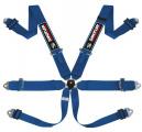 Bezpečnostní pás Sandtler Sponsor 6-bodový modrý - karabina (FIA homologace)