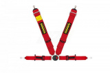 Bezpečnostní pás Schroth Profi II ASM FE 6-bodový červený - očko (E a FIA homologace) - levý