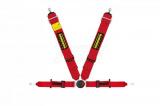 Bezpečnostní pás Schroth Profi II ASM FE 6-bodový červený - očko (E a FIA homologace) - pravý