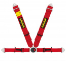Bezpečnostní pás Schroth Profi II ASM FE 6-bodový červený - karabina (E a FIA homologace) - levý