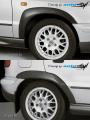 Nástavky Lemy blatníků široké - černý desén* (Škoda Felicia Facelift od r.v. 98)