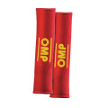 Návleky na bezpečnostní pásy OMP červené - 50mm