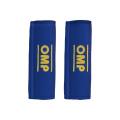Návleky na bezpečnostní pásy OMP modré - 76mm