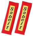 Návleky na bezpečnostní pásy Sabelt červené - 76mm