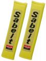 Návleky na bezpečnostní pásy Sabelt žluté - 50mm