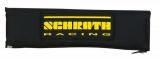 Návleky na bezpečnostní pásy Schroth černé se žlutým logem - 76mm