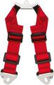 Přídavný rozkrokový popruh pro vícebodové bezpečnostní pásy Schroth - červený (karabina)