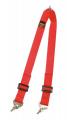 Přídavný rozkrokový popruh pro vícebodové bezpečnostní pásy Sabelt - červený (karabina)