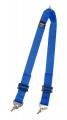 Přídavný rozkrokový popruh pro vícebodové bezpečnostní pásy Sabelt - modrý (karabina)