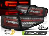 Zadní led světla Audi A4 B8 12-15 sedan, led žárovka s čárovými světly černá SEQ