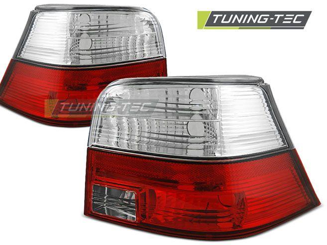 Zadní světla VW Golf 4 09-97-09-03 červená bílá TUNINGTEC