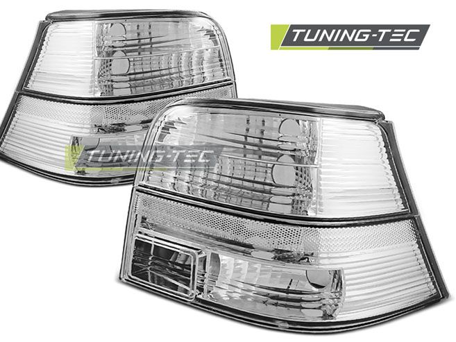 Zadní světla VW Golf 4 09-97-09-03 crystal bílá TUNINGTEC