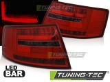 Zadní led světla Audi A6 C6 sedan 04 / 04-08 7kolíkový červená kouřová