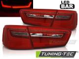 Zadní led světla Audi A6 C7 11-10-14 červená bílá