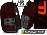 Zadní led světla Dacia Duster 04/10- led bar červená kouřová