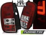 Zadní led světla Dacia Duster 04/10- led bar červená bílá