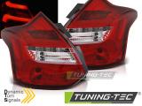 Zadní led světla Ford Focus 3 11-10/14 hatchback červená bílá led bar SEQ IND.