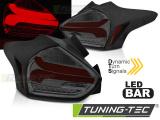 Zadní led světla Ford Focus 3 15-18 hatchback červená kouřová SEQ LED