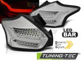 Zadní led světla Ford Focus 3 15-18 hatchback chrom SEQ LED