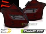 Zadní led světla Ford Focus 3 11-10/14 hatchback červená kouřová  led bar SEQ IND.