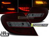 Zadní led světla Mercedes C-Class W204 sedan 07-10 červená kouřová  led