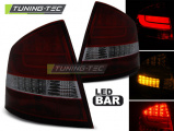 Zadní led světla Skoda Octavia II sedan 04-12 červená kouřová led