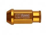 Kolové racingové matice (štefty) D1 Spec závit M12 x 1.5 - zlaté