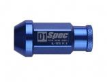 Kolové racingové matice (štefty) D1 Spec závit M12 x 1.5 - modré