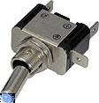 Vypínač kovový 12mm 25A / 12V s modrou LED - on/off