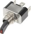 Vypínač kovový 12mm 30A / 12V s červenou LED - on/off