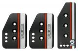 Sportovní pedály Sparco Settanta - hliníkové - černé (krátký plyn)
