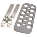 Opěrka nohy řidiče OMP - hliníková - stříbrná
