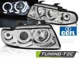 Přední světla Audi A4 11/94-12/98 Angel Eyes CCFL chrom