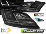 Přední světla Audi  TT 06-10 8J černá SEQ xenon led
